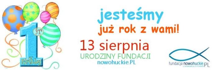 Pierwszy rok istnienia Fundacji nowohuckie.PL